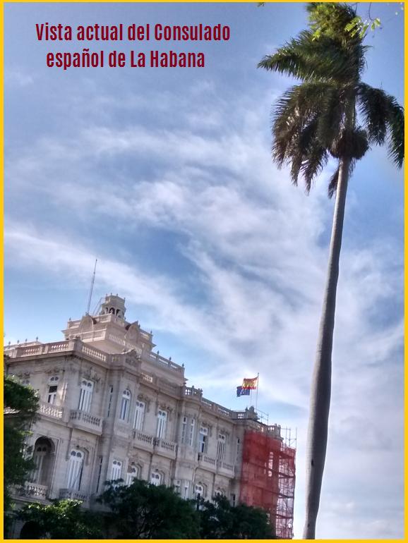 Imagen actual del Consulado español de La Habana