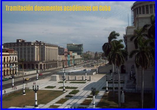 Tramitación documentos académicos en Cuba